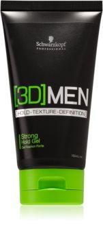 Schwarzkopf Professional [3D] MEN gel cheveux fixation forte